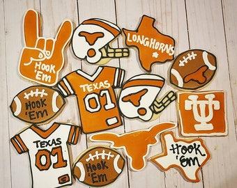 Texas Longhorn Cookies