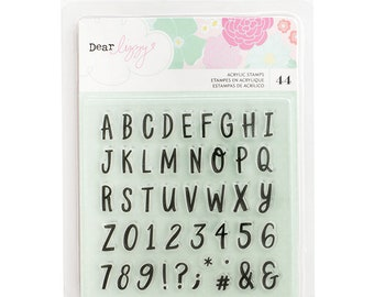 Dear Lizzy Stay Colorful Alpha Clear Acrylic Stamps -- MSRP 4.00