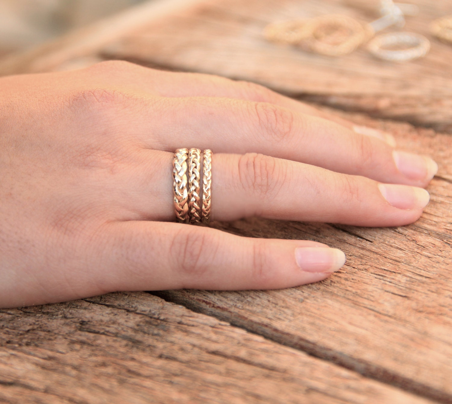 unique il band zoom set wedding gold listing twist braided no infinity fullxfull ring en