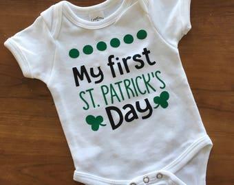 First St. Patrick's Day, baby's first St. Patrick's Day