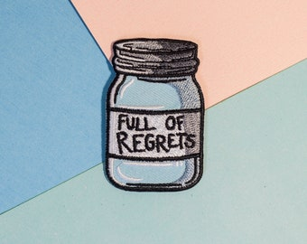 A Jar Full Of Regrets Iron On Patch