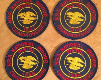 Vintage NRA Indoor Pistol Championship Patch, National Rifle Association Patch