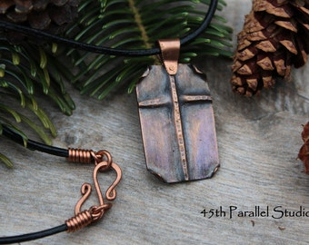 Copper Cross Necklace, Mens Copper Jewelry, Cross Necklace, Christian Jewelry, Religious Jewelry, Gift for Him, Mens Cross Necklace
