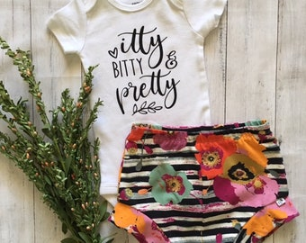 NEW for Summer!! Autumn Floral/Baby Shorties Set/Toddler Shorties Set