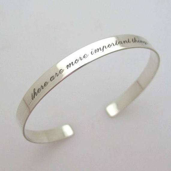 personalized or quotes stacking bangles hand names bracelet products engraved stamped cuff silver bracelets verses bangle grande