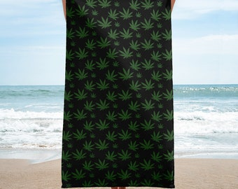 Cannabis Leaf 420 Weed Pot Towel