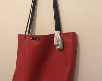 Large Red Tote Bag