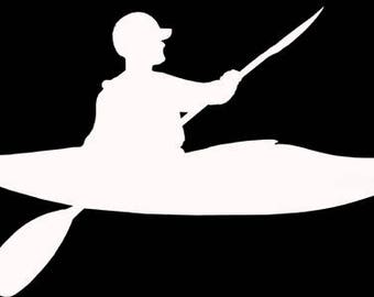 White water kayak decal
