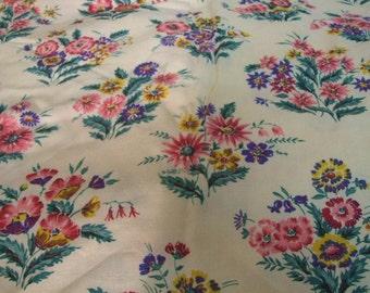 pretty floral vintage fabric