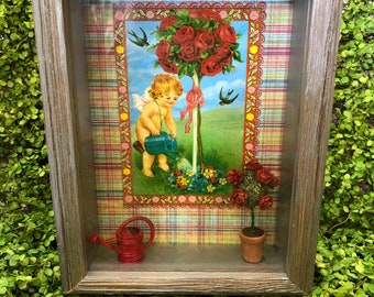 Spring Garden Shadow Box