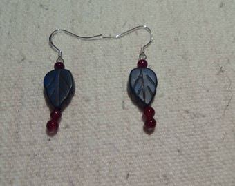 Lapis Lazuli and Garnet 925 Sterling Silver earrings