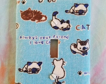 Japanese Cats Light Switch Plate