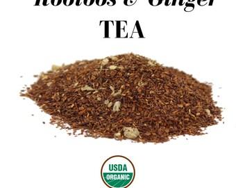 Organic South African Rooibos & Ginger Loose Herbal Tea (USDA Organic and Fair Trade)