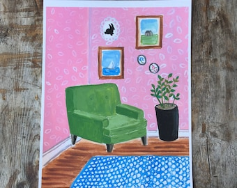 Giclee Print - Barbie's Dream House Archival Giclee Print