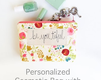 Best Friend Gift Women, Inspirational Her, Personalized Makeup Bag, Cosmetic Zipper Pouch, Gift for Her, Girlfriend, Wife, Sister