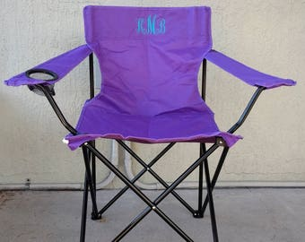 Birthday Gift - Beach Chair - Monogrammed Adult Folding Chair - Teen Camping Chair - Larger Sports Chair - Personalized Outdoor Chair