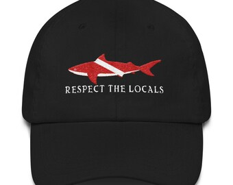 Respect The Locals Shark Diving Hat