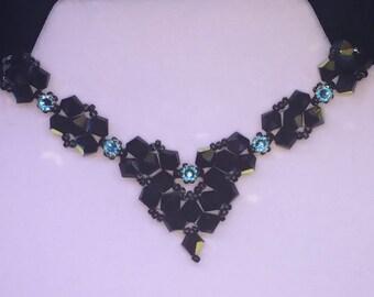 Bow Tie Necklace - Black
