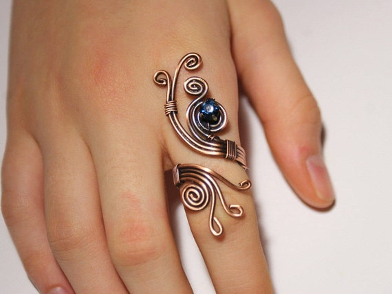 Draht gewickelt Schmuck handgefertigt Ring Kupfer Draht