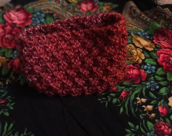 Red ombre winter headband