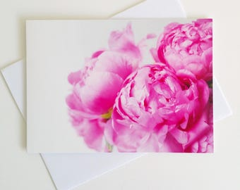 Peonies - fine art photography greeting card - made in Tasmania