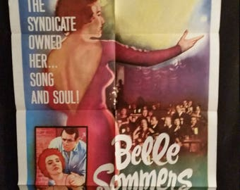 Original 1962 Belle Sommers One Sheet Movie Poster Polly Bergen Jazz Lounge Singer