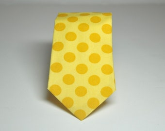 Necktie Me and Matilda Everyday Tie Sunny Yellow Dots