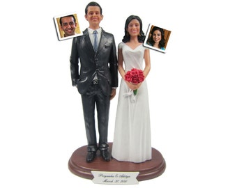 Custom Suit Groom with Your Choice of Bride Wedding Cake Topper