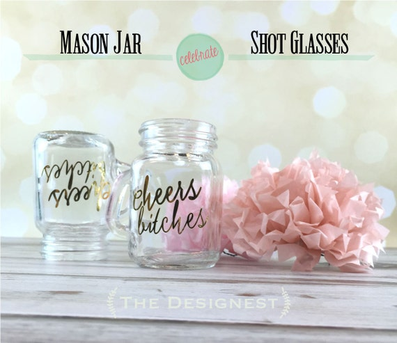 Party Shots Shot Glasses Mason Jar Wedding Bachelorette Favors Girls Weekend Southern