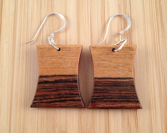 Mexican Bocote Handcrafted Exotic Wood Earrings