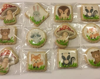 Forest theme cookies 12
