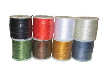 Extra Strong Sewing Thread 50 meter spool Black Red White Cream Blue Brown Green