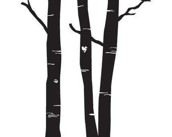 Forest Wall Decal size LARGE - Home Decor, Office Decal,