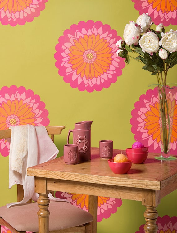 Medium Daisy Flower Stencils Set Easy DIY Floral Wall Art