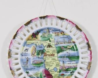 "Vintage 6"" Florida Souvenir Plate, Made in Japan"