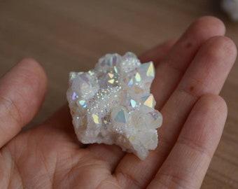 ONE Angel Aura quartz, Clear quartz electroplated, quartz to choose, altar quartz, altar gemsonte