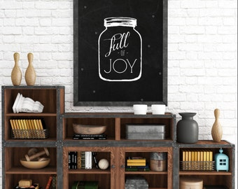 Kitchen wall decor, Full Of Joy, Wall Art Prints, Black and White Prints, Instant Download, The Copper Anchor- ADOPTION FUNDRAISER
