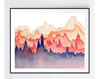 Abstract 5, Abstract Watercolor, Abstract Print, watercolor print, watercolor painting, abstract art, modern print, giclee print, art print