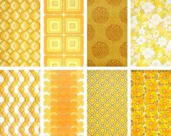 70s wallpaper - metre / vintage wallpaper yellow 1