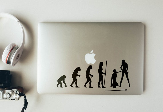 Man Evolution to Sex Slave Decal Sticker, BSDM, mac, Funny, 50 Shades, Gray, Grey, Submissive, Leash and whip, Macbook Decal Sticker