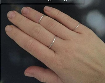Silver stacking rings and midi rings | solid sterling silver rings | simple ring band