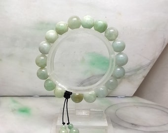 Light green beads jade bracelet
