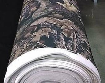 """Harvest True Timber Camouflage Auto Headliner Fabric 3/16"""" Foam Back By The Yard"""