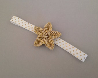 Macrame headband, headband, girly headband, toddler headband, baby headband, flower headband, handmade headband