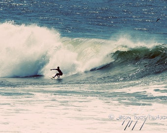 Beach Photo - Cool Summer - Surfing Photography 8x12 California surf photo on metallic paper