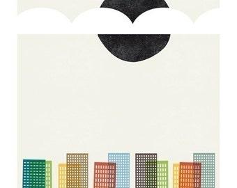 City Scape print