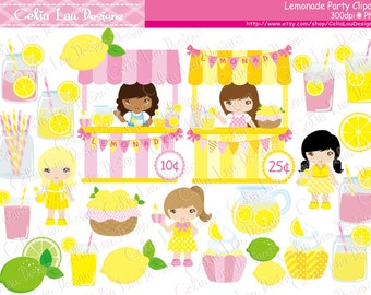 Lemonade clipart , Pink Lemonade Party, Lemonade Stand clip art (CG217)