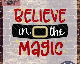 Believe In the Magic Christmas Santa Belt with SVG DXF PNG Eps Commercial & Personal Use
