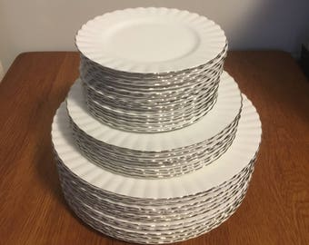 Royal Albert Chantilly Dinner Plates Salad Plates Dessert Plates and Bread and Butter Plates