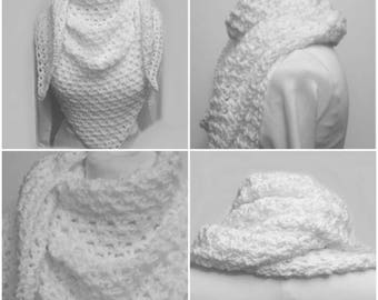 Snowflake Shawl Wrap Gypsy Festival Crochet Boho Handmade Spring Summer Bohemian Festival Clothing